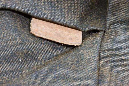 label on a vintage bag photo