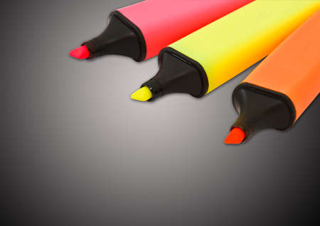 Colored highlighters on a isolated background  photo