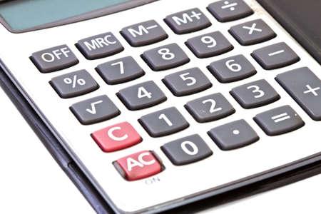 microcomputer: Calculator close-up shot focus