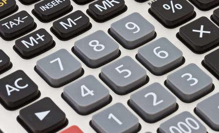 Calculator close-up shot focus