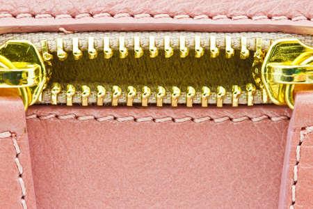 zip on a bag background Standard-Bild