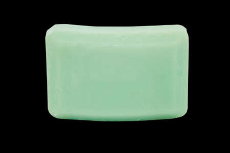 Green Bar of Soap on isolated with path Stock Photo - 23794685