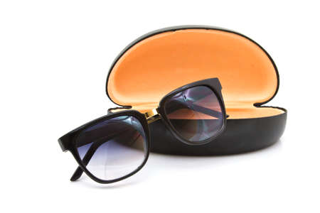 luxurious sunglasses isolated on the white