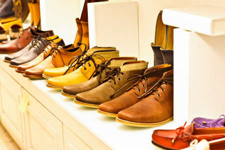 fashion shoes: Close-up image of some leather shoes Stock Photo