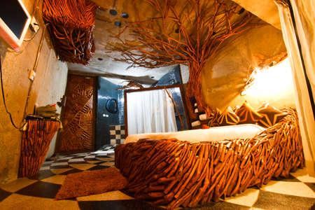 Modern bedroom in hotel