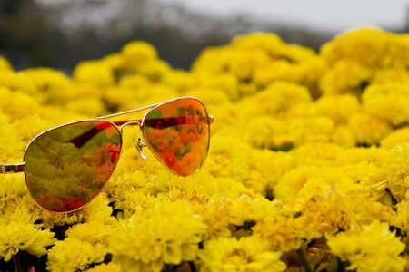 Beautiful orange-yellow floral background