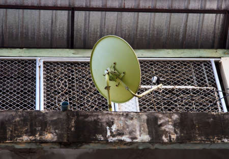 bowl frequency: satellite dish on the roof