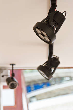 Security camera on the roof photo