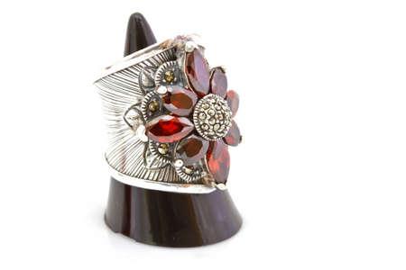 bezel: Ruby and diamond bezel style ring