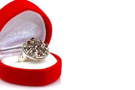 Ruby and diamond bezel style ring