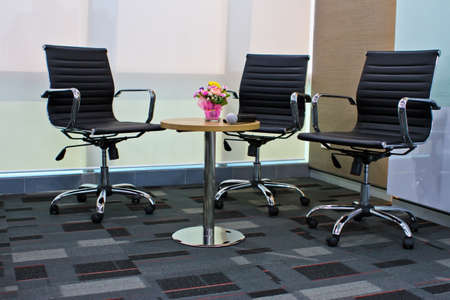 line lines luxury meeting: Empty business conference room interior.