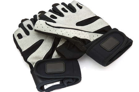 weightlifting gloves: Fitness Gloves on white background
