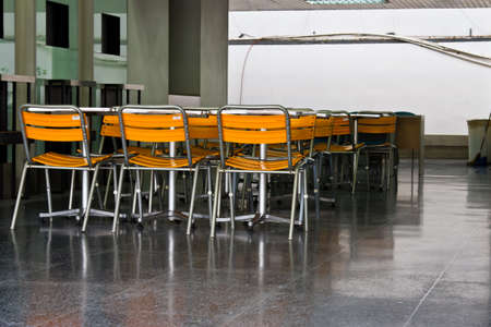 food court: chair in food court. Stock Photo
