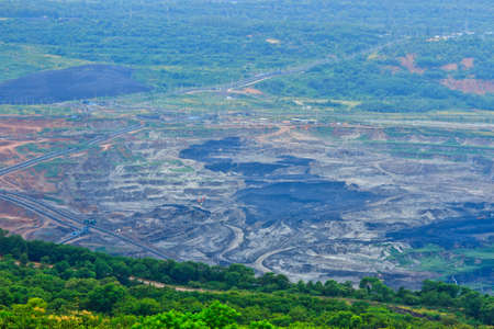 dump truck: Production useful minerals. the dump truck at mining coal