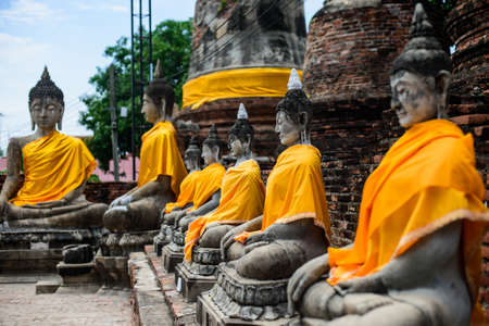 cuisines: Old Buddha statue in Thailand
