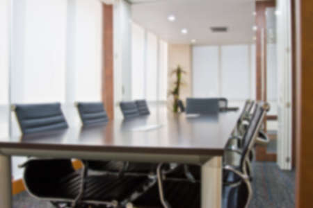 meeting room focus Blur background Stock Photo