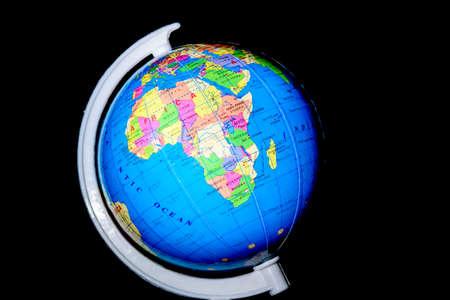 globe  the terrestrial ball: World Globe language isolated on black