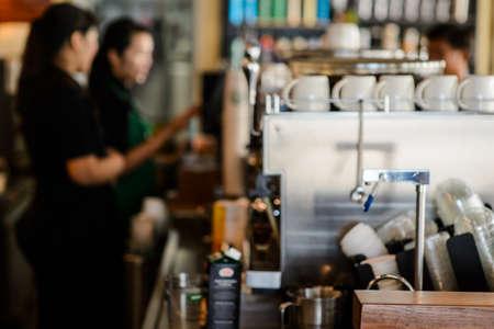 Coffee shop focus blur background