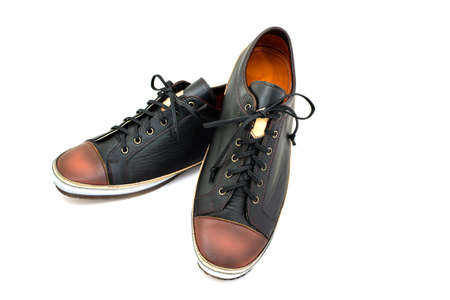 male fashion: Male fashion with shoes on white background