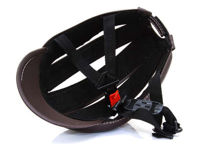 x sport: Bicycle road bike safety helmet isolated Stock Photo