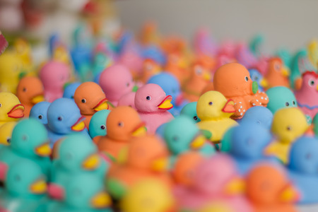 pretty s shiny: Toy Ducks Stock Photo