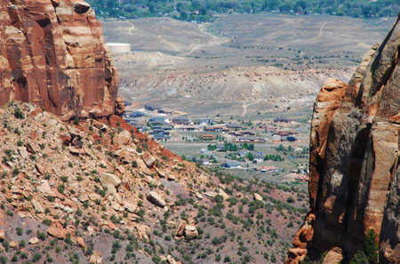 mesas: Subdivision in Grand Junction, Colorado sets below wild mesas in nearby Colorado National Monument