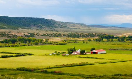 Little farm in the high desert of southern Colorado Stock Photo - 5558153