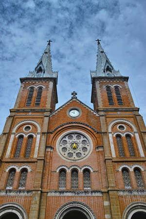 notre: Notre Dame of Saigon Stock Photo