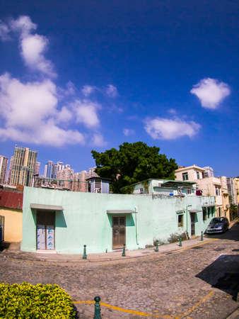 macau: a street corner in Macau Editorial