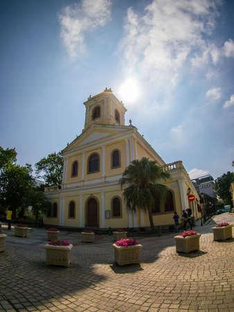 macau: a church in Macau