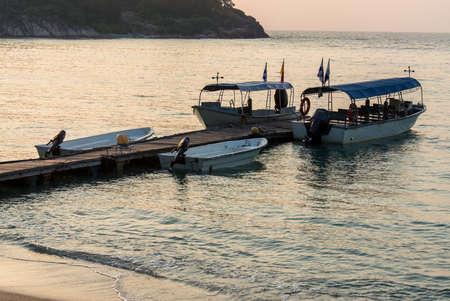 レダン島でボート