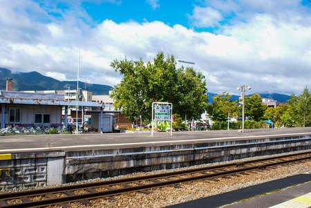 富良野駅 写真素材