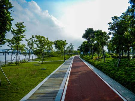 サイクリング コース 写真素材