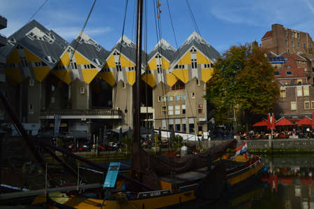 A local landmark in Rotterdam, Netherlands The Cube Homes