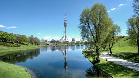 olympic: Munich, Germany, 24 April 2016: Olympiaturm in Olympic Park, Munich Germany