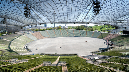 olympic stadium: Munich, Germany, 24 April, 2016: View of the Olympic stadium in Munich Germany