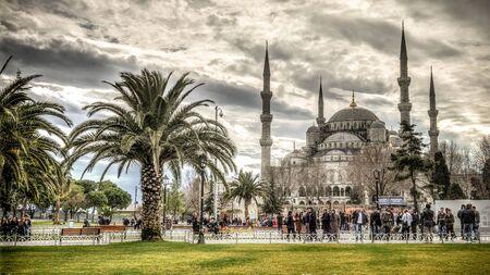 Istanbul, Turquie - 9 Février, 2013: Mosquée Bleue (Sultanahmet Cami) à Sultanahmet, Istanbul, Turquie Éditoriale