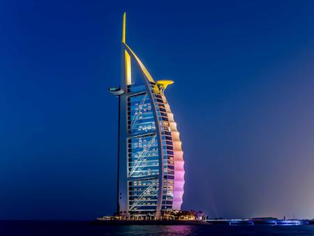 Dubai, UAE - May 31, 2013: The Burj El Arab hotel Editorial