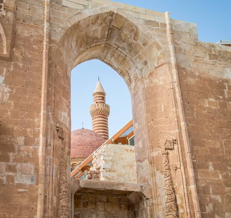 agri: Agri, Turkey - September 29, 2013: Interior scene from Ishak Pasha Palace (Ä°shak Pasa Sarayi)