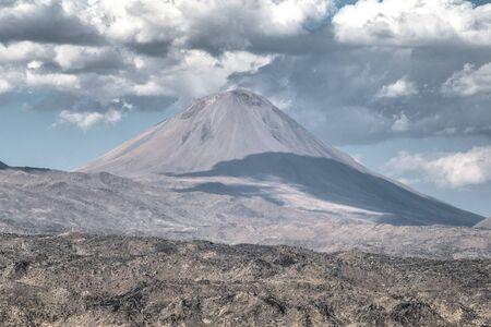 agri: Agri, Turkey - September 29, 2013: Lesser Mount Ararat (Kucuk Agri)