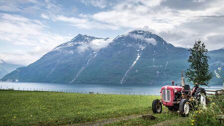 scenary: Kvalheim, Norway - May 31, 2016: View from Kvalheim village in Norway Editorial