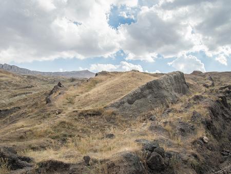 ark: Agri, Turkey - September 29, 2013: Noahs Ark dig site on Ararat Mountain
