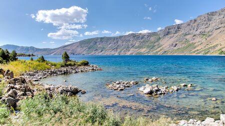 Van, Turkey - September 28, 2013: Lake Nemrut of Nemrut Crater