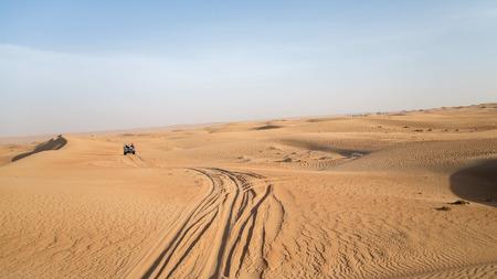 the jeep: Dubai, UAE - May 30, 2013 - Desert safari on jeeps near Dubai. UAE Stock Photo