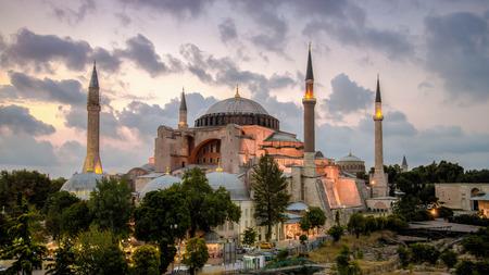 hagiasophia: Istanbul, Turkey - 4 March, 2013: View of Hagia Sophia (Ayasofya), historic centre of Istanbul U  1985, Turkey, 6th century.