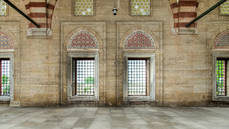 edirne: Edirne, Turkey - May 24, 2014: Interior walls of Selimiye Mosque in Edirne