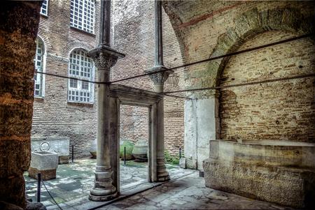 hagiasophia: Istanbul, Turkey - 4 March, 2013: Baptise room inside Hagia Sophia (Ayasofya),  1985, Turkey, 6th century.