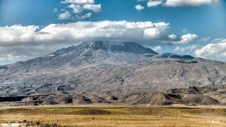 agri: Agri, Turkey - September 29, 2013: Greater Mount Ararat (Agri Dagi)
