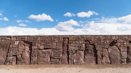 Tiwanaku - Bolivia - September 2017: Ruins of Tiwanaku is a Pre Columbian archaeological site in western Bolivia