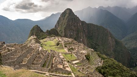 Machu Picchu, Peru - September 2017: View of the Lost Incan City of Machu Picchu near Cusco, Peru. Machu Picchu is a Peruvian Historical Sanctuary.